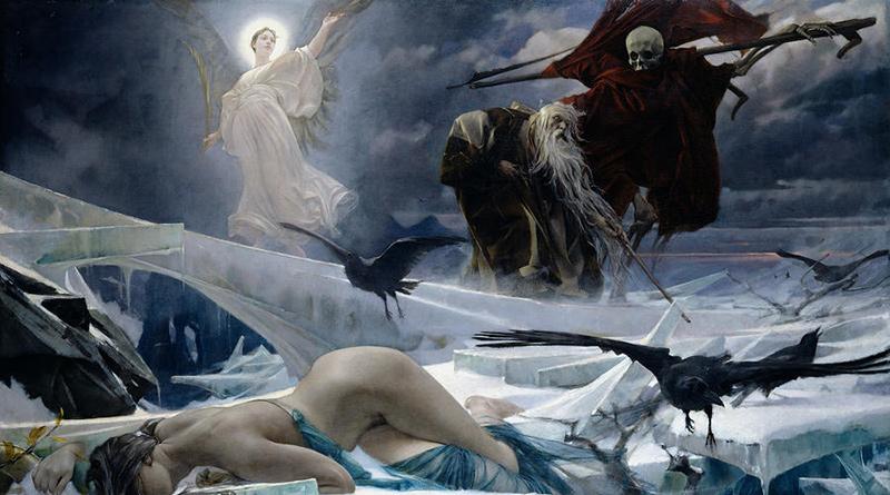 'Ahasuerus en el fin del mundo', de Adolph Hirémy-Hirschl (1888)