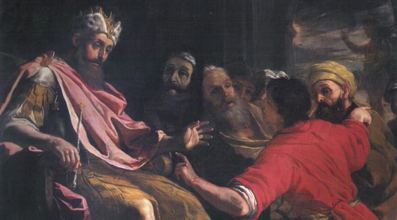 'Daniel interpreta el primer sueño de Nabucodonosor', de Mattia Preti