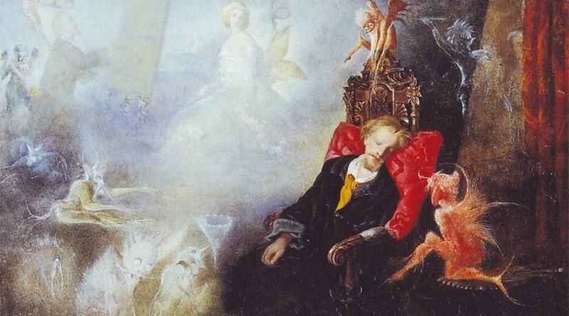 'El sueño del artista', de John Anster Christian Fitzgerald (1857)