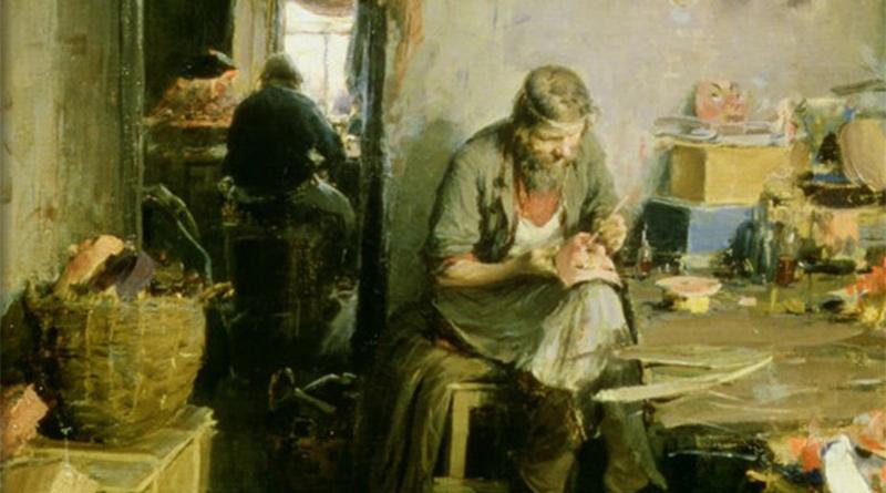 'En la tienda de máscaras', de Abram Efimovich Arkhipov (1897)
