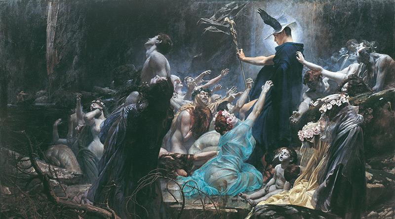 'Las almas en el río Caronte', de Adolf Hirémy-Hirschl (1898)