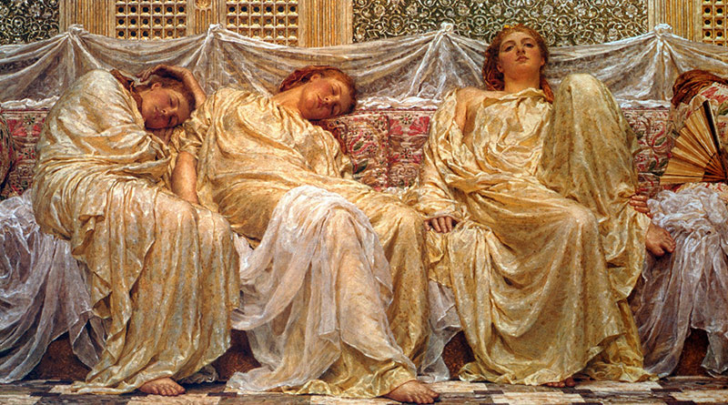 'Soñadoras', de Albert Joseph Moore (1882)
