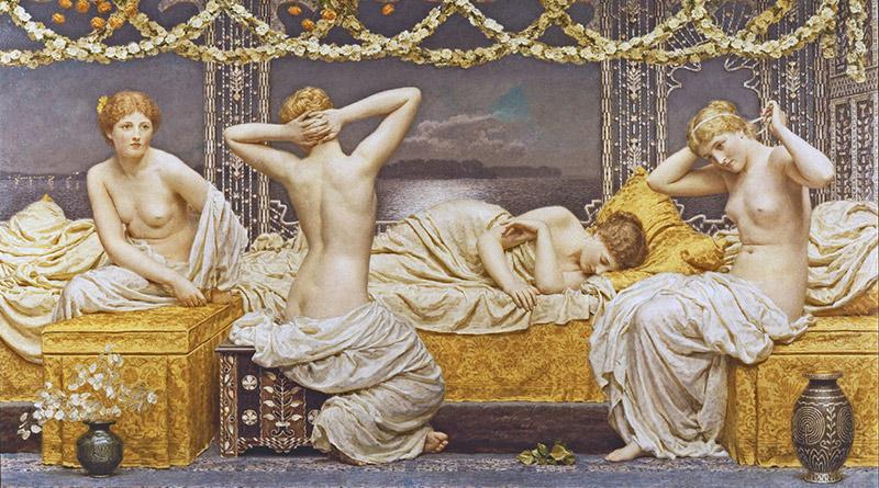 'Una noche de verano', de Albert Joseph Moore (ca. 1887)