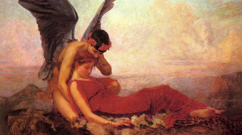 'En los brazos de Morfeo', de Sir William Ernest Reynolds-Stephens (1894)