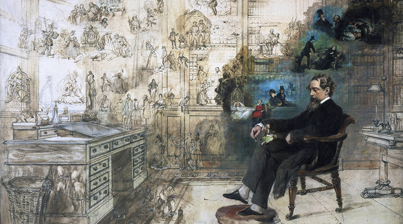 'El sueño de Dickens', de Robert William Buss (1875)