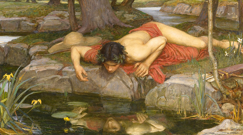 'Narciso' (detalle), de John William Waterhouse (1903)