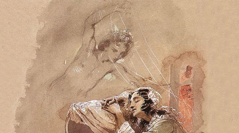 'Sueño', de Mihály Zichy (1875)
